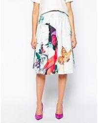 Essentiel Antwerp - Full Skirt In Butterfly Print - Lyst