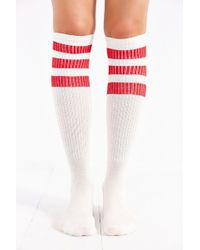 Urban Outfitters Three-stripe Sporty Knee-high Sock - Lyst