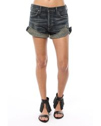 Citizens of Humanity Corey Relaxed Short blue - Lyst