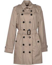 Burberry Prorsum Gray Full-length Jacket - Lyst