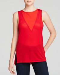 French Connection Tank - Polly Plains - Lyst