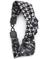 Jennifer Behr - Centre Knot Turban Headband - Black/White - Lyst