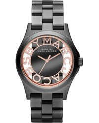Marc By Marc Jacobs Women'S Henry Gunmetal-Tone Stainless Steel Bracelet 40Mm Mbm3254 - Lyst