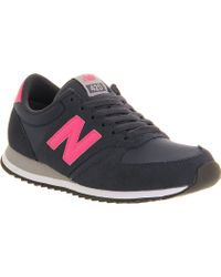 New Balance 420 Trainers Navy Magenta - Lyst