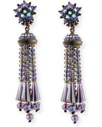 Jose & Maria Barrera | Beaded Tassel Drop Earrings | Lyst