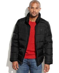 Tommy Hilfiger Big and Tall Puffer Coat - Lyst