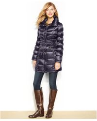 Michael Kors Michael Pillowcollar Quilted Packable Down Puffer Coat - Lyst