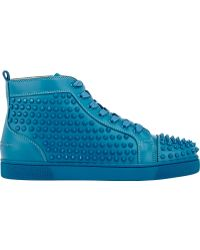 blue louboutins sneakers