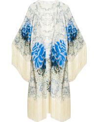 Athena Procopiou Pearly Paisley Kimono blue - Lyst
