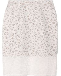 Vera Wang Embroidered Lace Skirt - Lyst