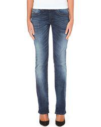Diesel Ronhoi Straightleg Midrise Jeans Blue - Lyst