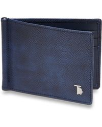 Tod's Leather Money Clip Wallet blue - Lyst