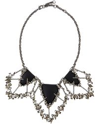 Alexis Bittar Crystal-Baguette Cluster Bib Necklace - Lyst