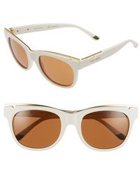 Tory Burch | 53mm Gold Trimmed Sunglasses | Lyst