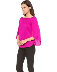 Milly Butterfly Blouse Raspberry - Lyst