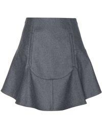 Carven Wool-Blend Mini Skirt - Lyst