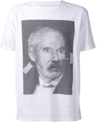 Wood Wood White Portrait T-shirt - Lyst