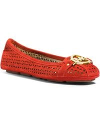 Michael Kors Fulton Perforated Suede Moccasin - Lyst