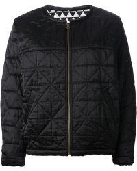 Etoile Isabel Marant Black Quilted Jacket - Lyst