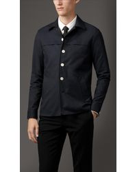 Burberry Lightweight Technical Cotton Overshirt - Lyst
