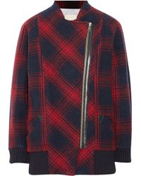 Band of Outsiders - Plaid Wool-Blend Cocoon Coat - Lyst