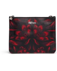 Alexander McQueen Mosaic Tulip Print Double Compartment Leather Pouch - Lyst