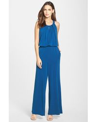 Marc New York - By Andrew Marc Print Jersey Jumpsuit - Lyst