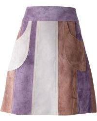 Derek Lam Panelled A-Line Skirt - Lyst