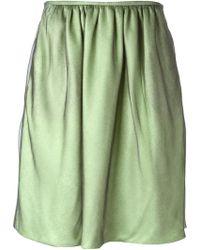 Giorgio Armani Soft Pleats Skirt - Lyst