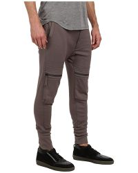 Helmut Lang Glazed Terry Cargo Jogger - Lyst