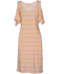 Sonia Rykiel Striped Cotton-Blend Short Dress - Lyst