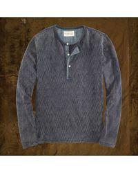 Denim & Supply Ralph Lauren Indigodyed Ikat Henley - Lyst