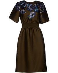 Giambattista Valli Blue Kneelength Dress - Lyst
