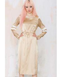 Nasty Gal To Be Adored Anabeth Silk Dress - Lyst