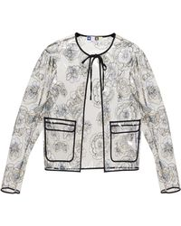 MSGM Embroidered Pvc Rain Jacket - Lyst