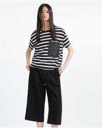 Zara   T-shirt With Pocket   Lyst