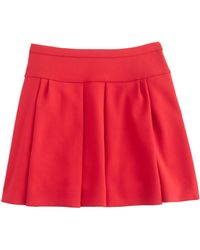 J.Crew Box Pleat Skirt in Crepe - Lyst