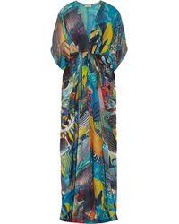 Issa Printed Silk-chiffon Maxi Dress - Lyst