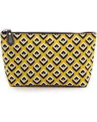 Diane Von Furstenberg Heritage Print Small Cosmetic Case - Chainlink Blackwhite - Lyst