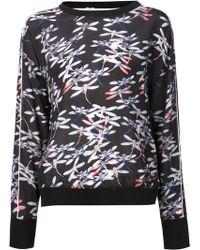 Pam & Gela Black Print Sweatshirt - Lyst