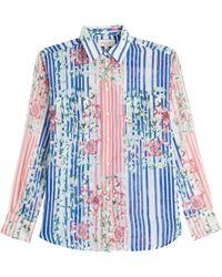 Paul & Joe Printed Silk-Cotton Shirt - Lyst