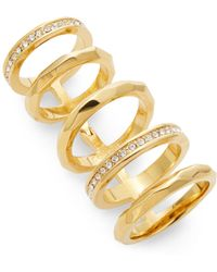 CC SKYE Faceted Hinged Cage Ring gold - Lyst