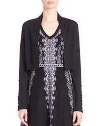 Nanette Lepore | Side-stitch Wool Cardigan | Lyst