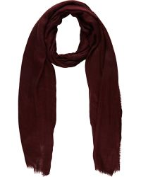 Barneys New York Double-Faced Oversized Scarf red - Lyst