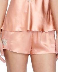 Vivis - Mina Silk Lounge Shorts - Lyst