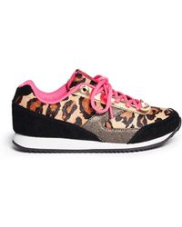 Sam Edelman 'Dax' Junior Leopard Print Sneakers - Lyst