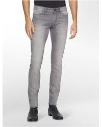 Calvin Klein | Jeans Slim Leg Smoke Grey Wash Jeans | Lyst