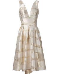 Lela Rose Flared Jacquard Silk-Blend Dress - Lyst