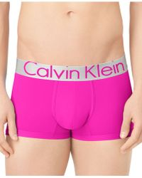 Calvin Klein Mens Steel Microfiber Low-rise Trunks - Lyst