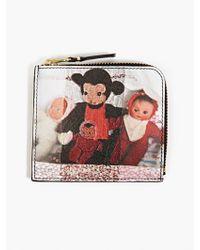 Comme Des Garçons X Aurélie Mathigot Men'S Printed Leather Coin Wallet - Lyst